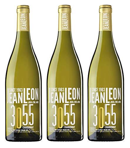 Jean Leon 3055 Chardonnay, Vino Blanco Ecológico - 3 botellas de 75 cl, Total: 2250 ml