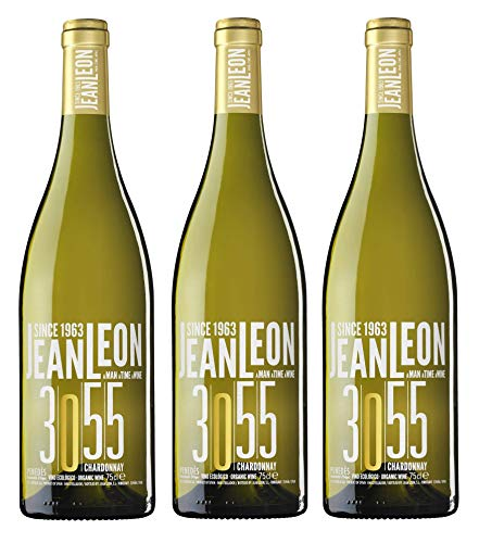 Jean Leon 3055 Chardonnay, Vino Blanco Ecológico - 3 botell