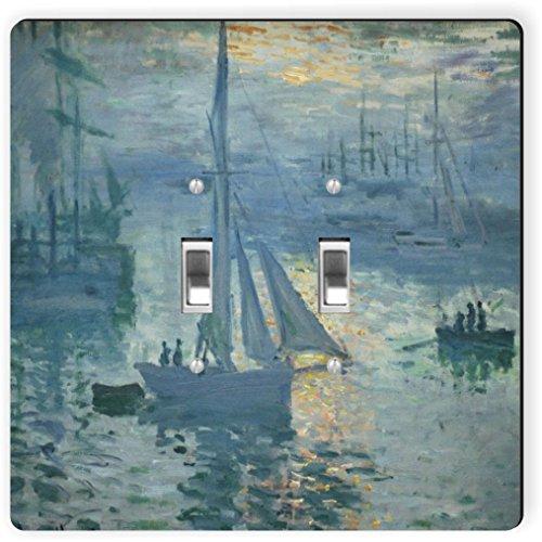 Rikki Knight 3603 Claude Monet Art Sunrise 2 - Placa de interruptor de luz