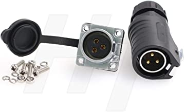 HangTon LP20 3 Pin Waterproof Connector Quick Disconnect High Voltage 30 Amp Power Bulkhead Male Cable Plug Female Panel Socket