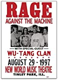 rage against the machine framed - Rage Against The Machine & Wu-Tang Clan Illinois 1997 Gift Poster for Fan Poster No Framed Gift for Fan Love Posters