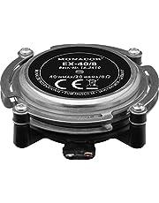 MONACOR EX-40/8 audio-exciter, resonator voor muziek- en spraakweergave, lichaam-geluidsomvormer met hoge belastbaarheid, bas-shaker voor hoge geluidskwaliteit met 20 W, 8 Ω, in zilver/zwart