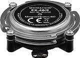 MONACOR EX-40/8 Audio Excitor Resonador de Música y Voz Convertidor de sonido corporal de alta capacidad de carga Bass Shaker para alta calidad de sonido con 20W, 8Ω en Plata/Negro
