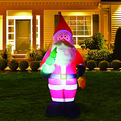 Phoenixreal 8 Ft Christmas Inflatables Santa Claus, Airblown Inflatable Santa, LED Lighted for Home Outdoor Yard Lawn Decoration