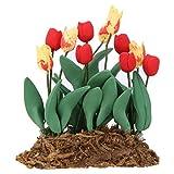 Dollhouse Flower Bonsaï - 1:12 Accessoires de Maison de PoupéE Simulation éLevéE Vif Jardin Miniature Bonsaï Meubles Plante Miniature DéCoration Jouets de Fleurs pour Les Enfants Poison