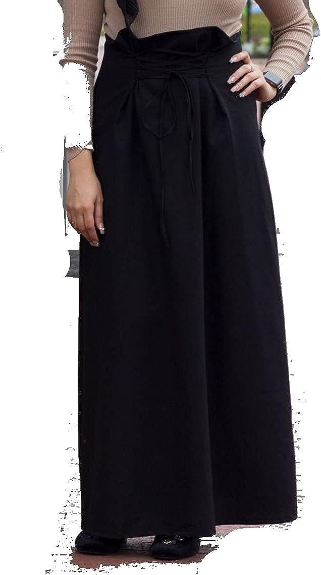 Verona Womens Black Maxi Pleated Skirt Size M