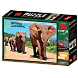 National Geographic NG10052 Super Animal Rescue Puzzle de Elefante Africano en 3D (500 Unidades)