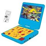 "Lexibook Disney Toy Story 4, Woody, Buzz & Forky, Lecteur DVD portable, écran LCD 7"", 2 haut-parleurs, batterie rechargeable, bleu/jaune, DVDP6TS"
