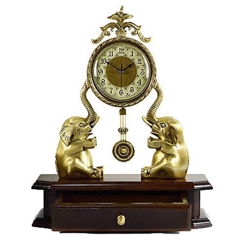 Triplsun-Clock Tischuhr Europäischen Stil Dekoration Dekoration Wohnzimmer Taizhong Elefant Kreative Tischuhr Deluxe Schlafzimmer Tischuhr