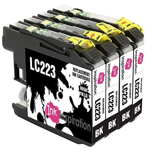 INK INSPIRATION® Ersatz für Brother LC223 LC-223BK Schwarz Druckerpatronen kompatibel mit Brother DCP-J4120DW MFC-J5320DW MFC-J5620DW MFC-J4420DW MFC-J4620DW MFC-J4625DW MFC-J680DW MFC-J5720DW J480DW