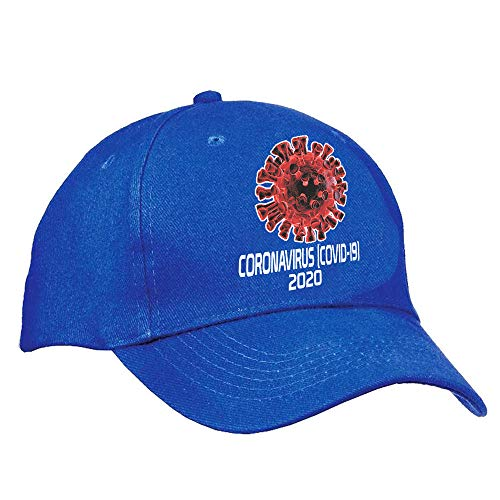 bull dog Coronavirus Covid-19 2020 Cap Hat Multiple Colors (Blue)
