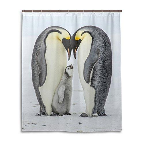 mydaily niedliche Pinguine Duschvorhang 152,4x 182,9cm, schimmelresistent und wasserdicht, Polyester, Dekoration, Badezimmervorhang