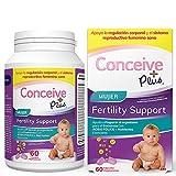 Conceive Plus Vitaminas Fertilidad Femenina + Nutrientes Clave - Regulación Corporal de Apoyo, Ciclos Saludables, Ayuda Concepción Natural - Ácido Fólico Folato, Píldoras - 60 Cápsulas Vegetarianas