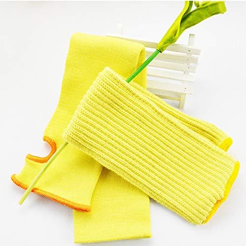 DUDUO-Handschoenen Arm Mouwen Bescherming Cut Resistant Gebreide Sleeve 16-Inch Lang met Duim Slot Helpt voorkomen Schrammen (1Paar)