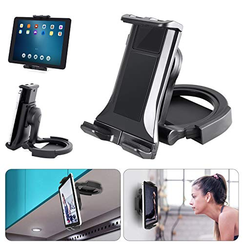 Kitchen Tablet Stand, Padwa Lifestyle Universal 2-in-1 Kitchen Wall Mount/Under Cabinet for Tablet Holder 4.7' to 11' iPad/Tablet/iPhone, Recipe reading on wall or using on desktop
