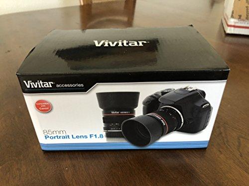 Vivitar 85mm f/1,8Hochformat Objektiv (für Canon EOS Kameras)