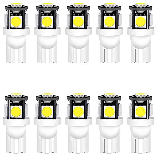 10-Stück Weiß T10 194 168 501 Glühlampe 24V 1W Hohe Helligkeit Lampe Litch