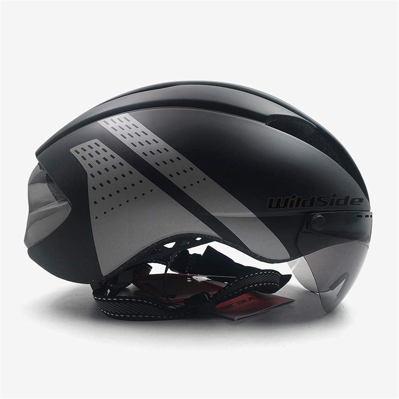 Yaning Bicycle Helmet Road MTB Integral TimeTrial Bike Helmet Men Speed Race Helmet Sun Visor 3 Lens Aero Goggles Equipment