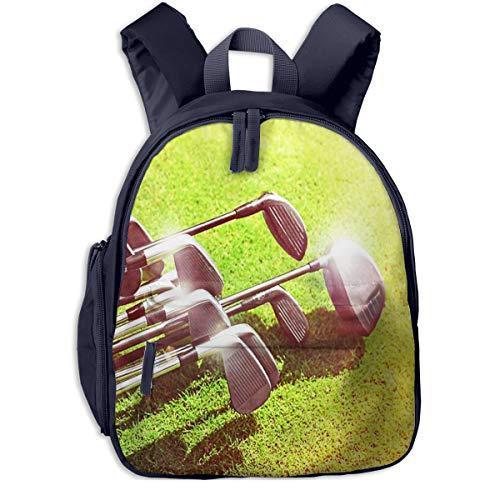 Kinderrucksack Kleinkind Jungen Mädchen Kindergartentasche Summer Silver Sand Golfschläger Backpack Schultasche Rucksack