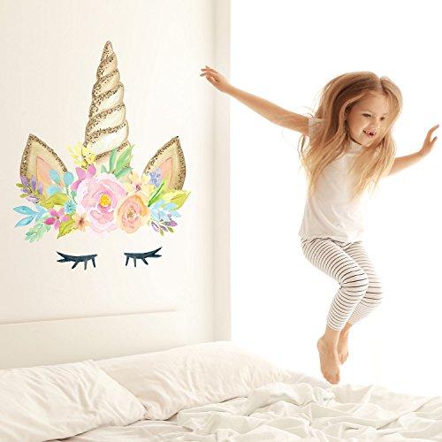 Stickerscape Einhorn Horn Wandtattoo | Einhorn Wandsticker | Kinderzimmer Dekor