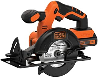 BLACK+DECKER 20V MAX 5-1/2-Inch Cordless Circular Saw (BDCCS20C)