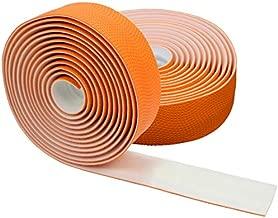 Domain Cycling Extra Long Gel Bicycle Handlebar Bar Tape Wrap for Road Bikes and Cycling (Orange)