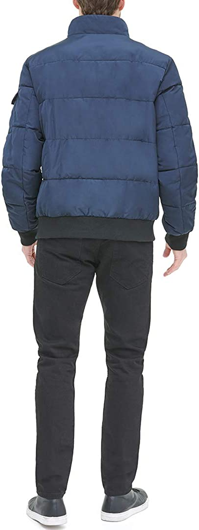 DKNY Mens Quilted Performance Bomber Jacket