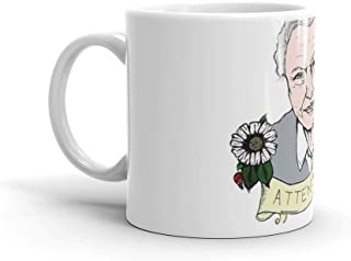 David Attenborough - AttenBae in Colour Mug 11 Oz White Ceramic