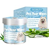 SEGMINISMART Pet Eye Wipes,Pet Tear Stain Wipes, Pet Wipes,Eye Tear Stain Remover Wipes for Pets,Natural Tear Eye Stain Remover Pads,150 Pads