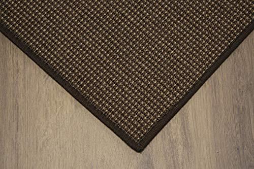 Teppich Janning Sisalteppich umkettelt Gemustert Kaffee braun 100% Sisal gekettelt - Verschiedene Größen (170 x 240 cm)