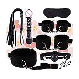 US-DXB Kit de Correas de Entrenamiento de Yoga 8pcs Set 2 Personas (Negro)