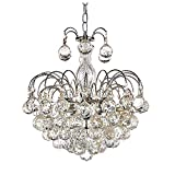 Top Lighting European-Style 3 Light Chandelier with Crystal Balls Pendant Ceiling Light Fixture