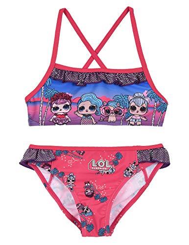 Bikini de playa Lol Surprise 2 unidades, 5 a/ños, rosa oscuro