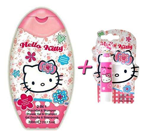 Hello Kitty Pflegeset Duschgel & Shampoo + Lippenpflegestift
