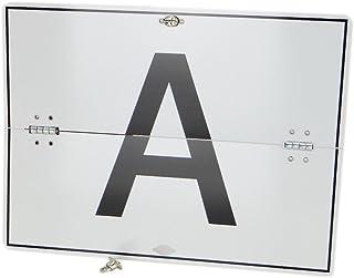 A Tafel A Schild für Abfalltransport Aluminium horizontal klappbar ohne Kantenschutz 400x300 mm Warntafel Abfalltafel Abfallschild LKW