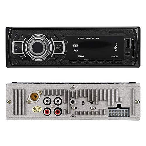 Mugast auto MP3-speler, RK-522 Bluetooth MP3-kaartlezer USB FM zender ondersteuning externe stekker AUX audio-ingang voor gebruik in de auto