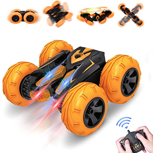 VAZILLIO Exclusive Storm Dancer Stunt Remote Control Car, 2.4GHz RC Road Racer Crawler Tumbler 360 Flip Rally Vehicle, Boys & Girls' Intellectual Toys, Novelty Xmas Birthday Visiting Gift for Kids