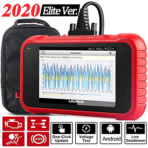 """LAUNCH OBD2 Scanner CRP123E Engine ABS SRS Transmission Code Reader 5""""Touchscreen, Android 7.0, Wi-fi Free Update Scan Tool, Battery Test, Auto VIN, 5 Years Warranty- Upgraded CRP123 [2020 Elite Ver.]"""