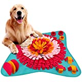 FREESOO Snuffle Mat for Dogs Pet Feeding Mat Lickimat Nose Work Training Puzzle Play Mats Interactive for Stress Release Blue