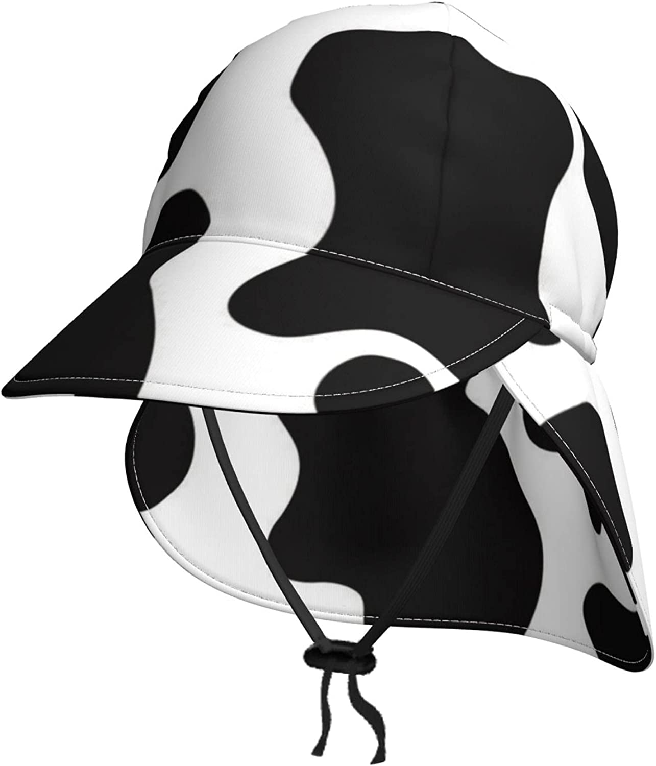 Black Max 80% OFF and White Cow Kids Sun Hat Flap Neck store Summer B with