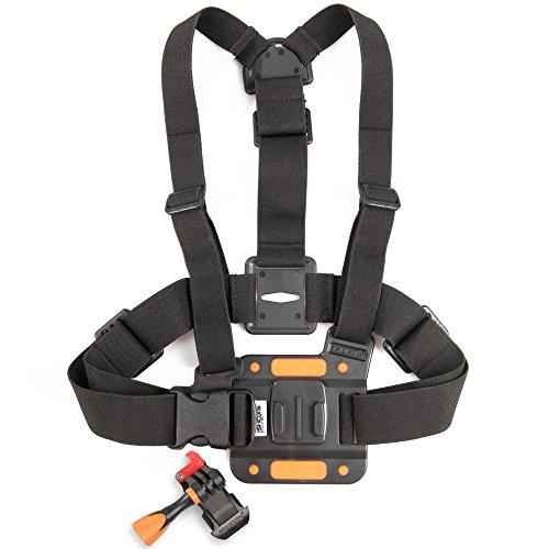 iSHOXS ProChest - Action-Kamera Brust-Halterung passend für GoPro und kompatible Action- und Sport-Kameras