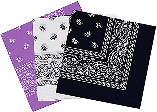 Pack 3 Pañuelos Bandanas para Cuello Cabeza Pulsera