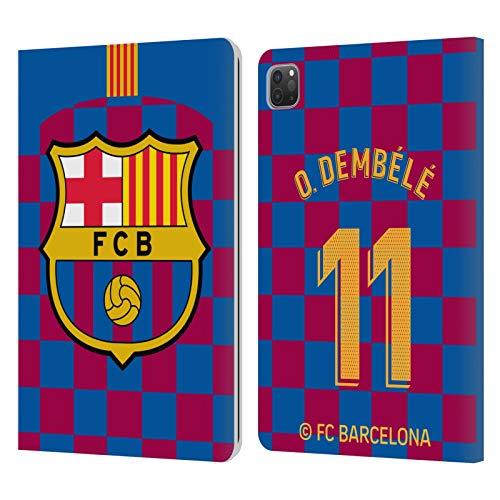 Head Case Designs Oficial FC Barcelona Ousmane Dembélé 2019/20 Jugadores Home Kit Grupo 2 Carcasa de Cuero Tipo Libro Compatible con Apple iPad Pro 11 (2020)