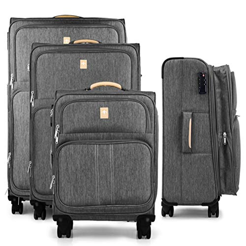 Set of 4 Lightweight and Robust Travel Suitcases for Men and Women 55 + 67 + 77 + 87