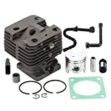 Harbot MS440 50mm Cylinder Piston Kit Big Bore with Fuel Oil Filter Line for STIHL 044 044R 044W MS 440 MS440RZ MS440VWZ MS440Z Chainsaw 11280201227