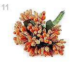 12pc 11 Orange Floral/Fleuriste Pistils Sur les Fils, les Étamines de Fleurs Artificielles, des Décorations Diverses