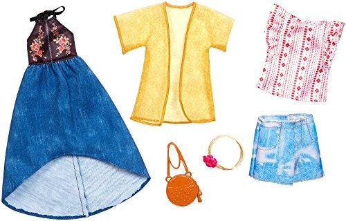 Mattel Urban Boho | 2 Moda Set | Barbie FKT40 | Ropa de la Muñeca