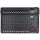Depusheng DT12 Studio Audio Mixer 12-Channel DJ Sound Controller Interface w/USB Drive for Computer...