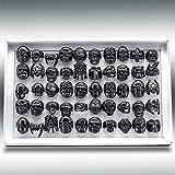 JIUXIAO 20 Piezas Anillo de Calavera Punk Vintage Anillos de Esqueleto Oro/NegroAnillosparaHombre joyeríaRegalo de Fiesta
