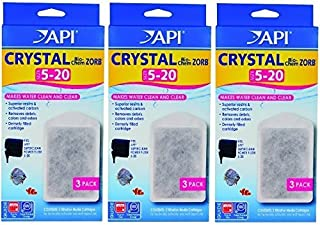 API Crystal Bio-Chem Zorb Filter Cartridges For Aquarium, Size 5 To 20 - 9 Total (3 Packages with 3 Filters each)